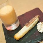 ポワンエリーニュ - アンチョビのブリオッシュとサワークリーム、小さなポタージュ