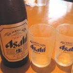 中国料理 百楽 - ビール中瓶(いくらだっけ〜)