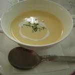レストラン ソネット - パスタセットの冷製コーンスープ
