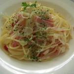 レストラン ソネット - メインのパスタ・・・白ねぎのぺペロンチーノ