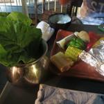 20844153 - 焼き野菜、サンチュ