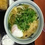 香の川製麺 - かけ、温玉入り、無料薬味in