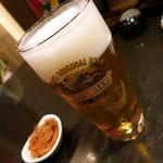 旬宝 - 生ビール(中)500円