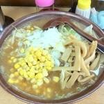 ラーメンハウス - みそコーンメンマ 半麺
