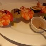 """FRATELLO - ★海老と夏野菜の""""スピエディーノ"""" バーニャカウダのソースで"""