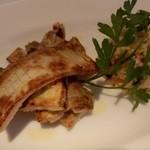 FRATELLO - ★太刀魚のセモリナ粉焼き コラトゥーラ風味 クスクスのサラダと