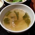 茶屋 草木万里野 - スパゲッティーセットのスープ