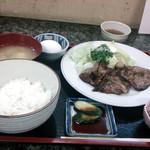 20855935 - 肩ロース生姜焼き定食700円!本来なら料理の画像はもっと撮影するのですが、早く食べないと遅刻してしまいます。急いで食べました。