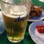 ビアガーデン日本橋 - 生ビール(アサヒスーパードライ)