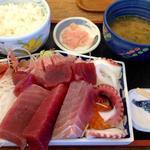 おがわ - 201208 しみずみなと刺身定食(2200円)