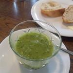 せらひうむ - ランチプレート        きゅうりのスープ