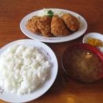 とんかつ竜 - ヒレカツ (ごはん+味噌汁+香の物付き)