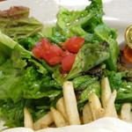 サラサ押小路 - パンケーキランチ《ランバージャック》(サラダのアップ、2013年8月)
