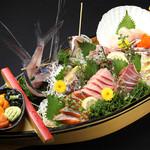 豪快鮮魚舟盛り(5人前)