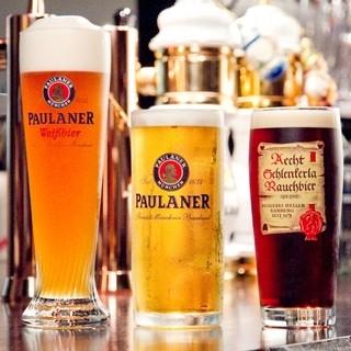 ドイツビールを中心に、充実したドイツのドリンク類