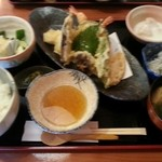和遊食 肴菜や - 天ぷら定食1200円