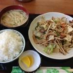さかね食堂 - 野菜炒め定食