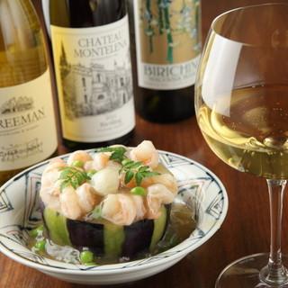旬の食材と厳選されたアメリカワイン