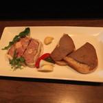 キップ - 鴨、豚、フォアグラのテリーヌ と 鶏レバーペースト (2013/08)