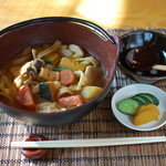 里山亭 - 名物の定番お料理「ほうとう」。ほっとする味です。