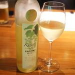 茅乃舎 - 福岡ワインにしてみたけど甘すぎた。