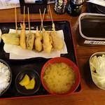 大阪満マル - 串揚げ定食