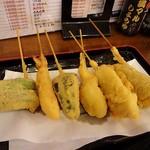 大阪満マル - ししとう、えび、かぼちゃ、きす、豚、牛の6本です