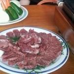 宮川 - 焼肉セットのお肉と野菜(3人分)