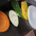 パイオニア牧場 - 野菜を焼いています
