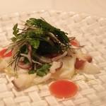 20895165 - 活蛸のカルパッチョ 香味野菜のサラダ仕立て