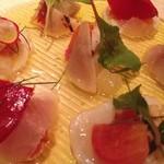 アルモニ - 真鯛、タイラギ、カマスのカルパッチョ