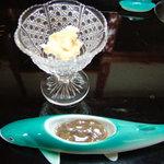 割烹 美加登家 - 子うるかは鮎の卵(または、オスの白子)の塩漬けです。マイルドな味わい。にがうるかは、内臓の塩漬けですが、今まで食べたものより生っぽいような。