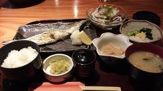 旬席 ふみ - 本日のおすすめの秋刀魚御膳 カルパッチョの魚はカマスでした^^;