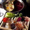 sheimeihoxasaikontan - 料理写真:薬膳火鍋 赤と白の二色のスープ、肉に海鮮、旬の京野菜・中国野菜でお楽しみください。9月より解禁!