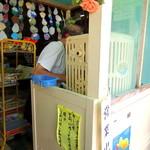 松永甘味堂 - 2013年8月25日(日) かき氷機 かき氷の営業時間の掲示も