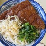 讃岐製麺所 - 細麺 中盛 アゲのせ