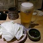 きんぼし - お通しとビール
