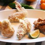かもめ食堂 - 大分地鶏の4種の部位を唐揚げにした「4種部位の唐揚げ」