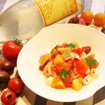 かもめ食堂 - 京都大原3種のトマトを使った「冷製カッペリーニ」