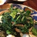 ぱやお - からし菜炒め。