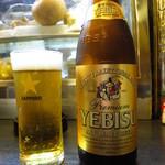 家康 - 瓶ビール(エビス)600円