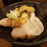 20924786 - 帆立と鶏の朴葉焼き