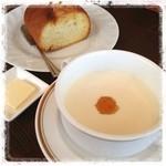 ラグーン - パン じゃがいもの冷製スープ   カナリ美味しい٩̋(๑˃́ꇴ˂̀๑)