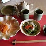 三田屋本店 - ランチステーキコース・オードブル+サラダ+スープ