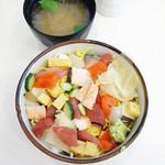 お魚倶楽部 はま - ばら寿司\680