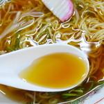 みぶうどん - あっさりダシの効いたスープ