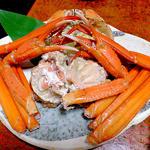 かしわや旅館 - 料理写真:夕食(茹で紅ズワイガニ;1人前)
