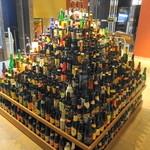 世界のビール博物館 - すごい瓶の山です