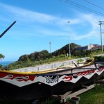 海日和 - ハーリーに用いるはりゅう舟が飾ってありました。