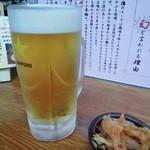 九州ラーメン 葉隠 - ビール